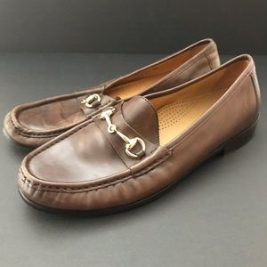 Cole Haan Classic Gold Horse Bit loafers 9.5